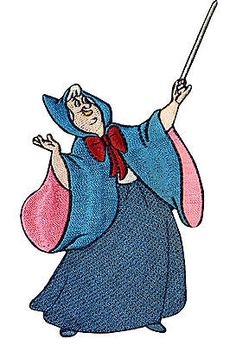 Walt Disney Cinderella Fairy Godmother Embroidered Iron On Applique Patch DS377