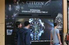 Luxury watch makers Citizen recently came to Limited Space to take advantage of our standout digital showcase screens to promote their latest classic wrist wear design: Citizen Eco-Drive World A-T. Just in time for the busy Christmas shopping period! See our photo gallery for more:   http://limited-space.com/photos/citizen-watch/  #OOH #DOOH #digital #bluewater #citizen #malladvertising #engaging