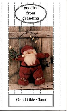 Good Olde Santa Claus Pattern by Goodies by honeyblossomstudio