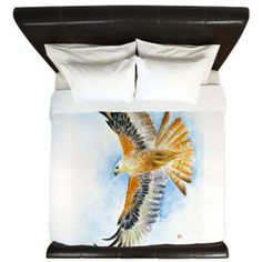 Art Bedding Red Tail Hawk King Duvet