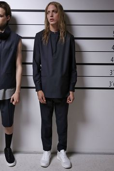 A look from the Public School Spring 2016 Menswear collection.