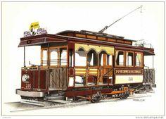 C0323 - Bruxelles: Tram: Ch. de fer écon.: motrice début 1900 Electric Train, Miles Davis, Locomotive, Woodworking Projects, Transportation, Scenery, Material, Sketches, Drawing