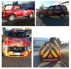 Check out this awesome partial wrap and graphics completed January 20th for Whitby Fire!   www.SpeedproDurham.ca