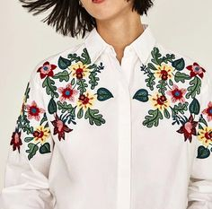 Flower Embroidered White Blouse sold by Moooh!!. Shop more products from Moooh!! on Storenvy, the home of independent small businesses all over the world.