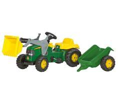 Modelos P (2 a 5 años) >Tractor de pedales JOHN DEERE con pala y remolque  #momamini #juguetes #niños #tractor #tractorpedales #johndeere