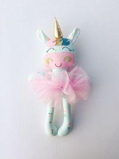 Unicorn doll fabric doll handmade doll by LittleSunshineShop11