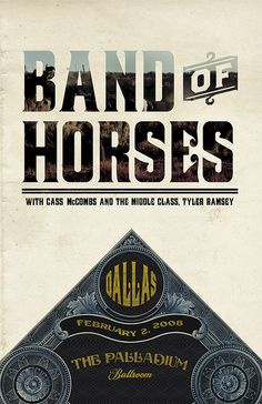 Band of Horses - gig poster