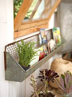 Chicken feeder shelf for above my potting bench