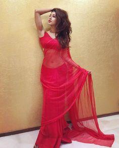 Sonarika Bhadoria hot in red saree Sari Blouse, Saree Blouse Designs, Indian Blouse, Indian Sarees, Beautiful Girl Indian, Most Beautiful Indian Actress, Beautiful Saree, Beautiful Wife, Sari Design