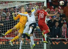 Credit: Michael Regan - The FA/The FA via Getty Images Joe Hart clears the danger as Poland attack