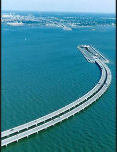 Les routes les plus spectaculaires au monde - Pont de la baie de Chesapeake Maryland