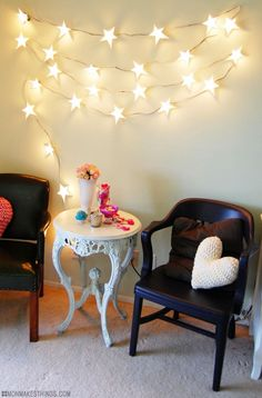 So as I mentioned in my Craft Envy  post about pretty twinkle lights, I've been longing for the soft glow of string lights since Ireluct...