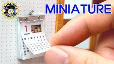 (ENG)미니어쳐 달력 만들기 (찢어찢어+ㅁ+) Miniature - Calendar