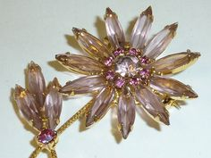 Vintage Mid Century Pink Rhinestone Flower by labaublesandbags, $32.00