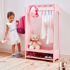 Teamson Kids' Windsor Pink MDF Dress-up Unit with Hooks | Overstock.com Shopping - The Best Deals on Kids' Dressers