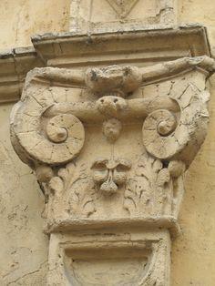 France. Sandstone ornament.