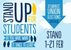 Union Elections 2013 'Stand' - University of Salford Students' Union - Designed by our friends at Magpie
