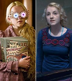 Evanna Lynch as Luna Lovegood.  Luna is my favorite supporting charachter in the whole series.  Maybe because I think I have a little Luna in me.