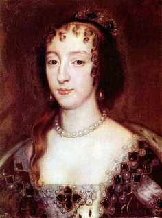 Queen Henrietta Maria of England painted after the restoration of the monarchy in 1660, when she would have been around 51.  If Sir Peter Lely, the artist, wasn't flattering the queen, she was in a splendid state of repair.  (I don't think Pepys would have recognized her from this portrait!)