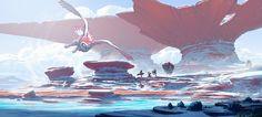 Dive into The Art of Anton Fadeev, a Russian Environment Concept Artist based in Sochi. Fantasy Art Landscapes, Fantasy Landscape, Landscape Art, Environment Concept, Environment Design, Pantheon Lol, Art Environnemental, Fantasy Concept Art, Concept Art World