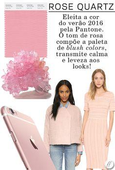 Pantone 2016 Rosa Quartzo Pantone 2016, Pantone Color, Rose Quartz Serenity, Pink Quartz, Blush Color, Color Of The Year, Spring Summer 2016, Marie, Beauty Makeup