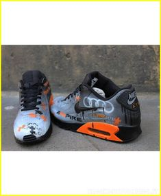 the latest de2a7 2664a this Nike Air Max 90 Candy Drip Light Grey Black Orange Trainer bring me  different experence.