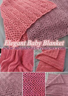 Elegant Baby Blanket – Free Crochet Pattern & video tutorials by Meladora's Creations