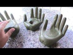 Cement Art, Concrete Crafts, Concrete Projects, Concrete Bird Bath, Concrete Cement, Vase Crafts, Bottle Crafts, Cd Crafts, Cement Flower Pots