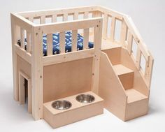 dogs Small Dog House, Dog House Bed, Cat House Diy, Cool Dog Houses, Diy Dog Bed, Dog Furniture, Animal Room, Wood Dog, Dog Rooms