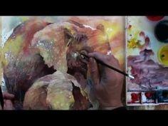Watercolor with Lian Quan Zhen: Elephants