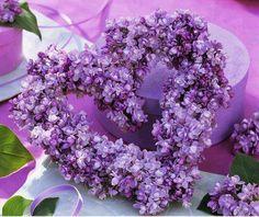 Lilac heart shaped wreath