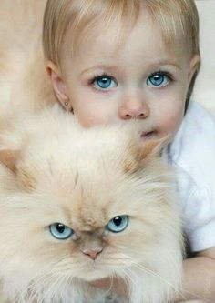 me and my kitty matching blue eyes