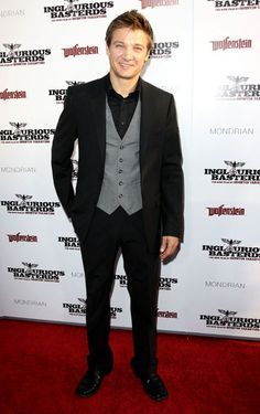 Jeremy Renner at the 'Inglourious Basterds' Los Angeles Premiere in 2009.