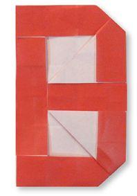 Origami alphabet(B) (plus A-Z diagrams)