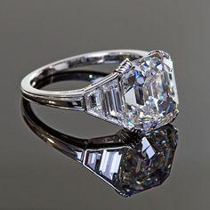 asscher cut engagement rings - Google Search