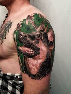 A German shepherd tattoo is a great way to ensure that your pup will be with you always. Hopefully, these German shepherd tattoos will give you some inspiration to come up with your own German shepherd tattoo design! Home Tattoo, 100 Tattoo, Pin Up Tattoos, Arm Tattoos, Tattoos For Guys, Tatoos, Tattoo Design Drawings, Tattoo Designs, Tattoo Ideas