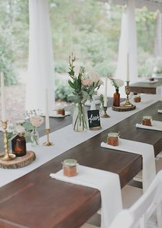 98 Rustic wedding table settings - Home Page Reception Decorations, Event Decor, Table Decorations, Wedding Centerpieces, Minimalist Wedding Invitation, Table Setting Inspiration, Wedding Table Settings, Place Settings, Table Wedding