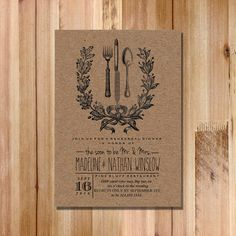 Wedding Rehearsal Dinner Invitation Vintage by FateandFourtune