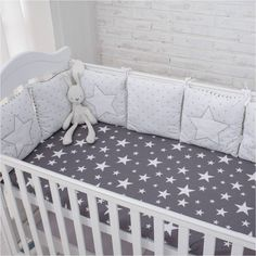 Cheap bed bumper, Buy Quality baby bumper directly from China bumper baby Suppliers: New Arrival High Quality Flexible Combination Star Bed Bumper Comfortable Protect the Baby Easy to Use Baby Bumpers In The Crib Baby Nursery Bedding, Crib Bedding, Nursery Room, Baby Room, Baby Crib Bumpers, Baby Bumper, Baby Cribs, Newborn Baby Gifts, Kids Decor