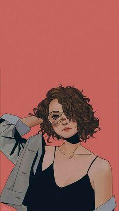 Cute Girl Drawing, Cartoon Girl Drawing, Girl Cartoon, Art And Illustration, Illustrations, Pop Art Wallpaper, Cute Girl Wallpaper, Drawing Wallpaper, Cartoon Kunst