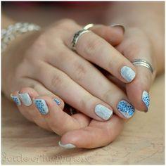 Paese 304 + China Glaze Snow + acrylic paint #nails #nailart