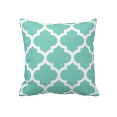 Quatrefoil Pillow in Turquoise