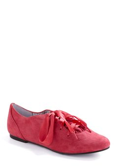 Betsey Johnson Moulin Rhubarb Shoe by Betsey Johnson - Pink, Solid, Bows, Casual