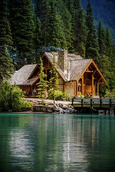 Bc Photograph - Cabin At The Lake by Thomas Nay