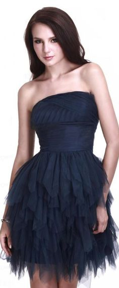 Fancy A Line Strapless Mini Short Cocktail Homecoming Dress & Homecoming Dresses on sale Junior Party Dresses, Grad Dresses, Homecoming Dresses, Strapless Cocktail Dresses, Strapless Dress Formal, Formal Dresses, Fashion Line, Look Fashion, Cute Sporty Outfits