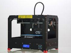 Schwarz 3D Drucker, 419,00€ Dual-Extruder Desktop Rapid Prototyping 3D-Drucker 3D Printer Inklusive 1x 1,75 mm ABS/PLA Filament