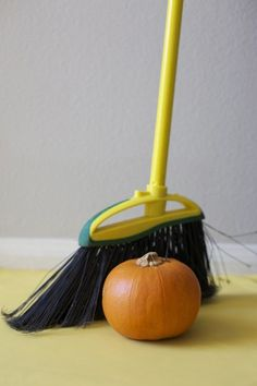 race with brooms/small pumpkins - who can sweep their pumpkin to the finish line the fastest