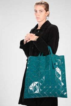 350d2b07d2 BAO BAO Issey Miyake - Big Square Shopper Shoulder Bag Made Of Big And  Polished Triangular Lucent Pro One-Tone Plates