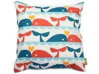 Whale cushion - natur elle