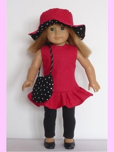 """18"""" American Girl doll clothes sewing patterns to download - AFTERNOON DATE outfit"""